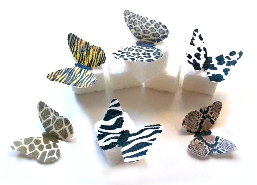 24 very small 1 assorted snake zebra giraffe cheetah cow for Animal print edible cake decoration